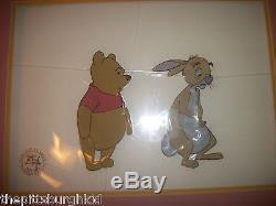 FANTASTIC 1977 many adventures of winnie the pooh cell disney cel rabbit & pooh