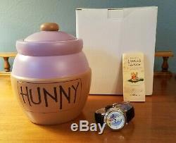 FOSSIL Disney Watch Collectors Club VI HUNNY POT PURPLE Pooh Sticks honey NOS LE