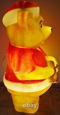 FREE Shipping 43 Union Winnie the Pooh Christmas Figure Plastic Blow Mold