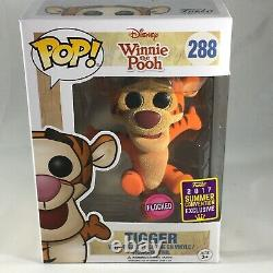 FUNKO Pop! Winnie the Pooh Tigger Flocked #288 Vinyl Figure 2017 Convention Excl