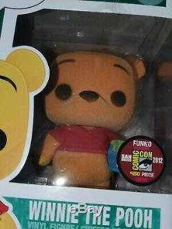 Funko PoP! 2012 SDCC Flocked Winnie The Pooh LE 480 Pcs in Hard Stack Protector