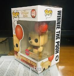 Funko Pop Christopher Robin Winnie The Pooh 440 Flocked Box Lunch Exclusive Mint