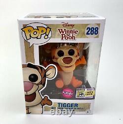 Funko Pop! Disney Winnie The Pooh #288 Tigger SDCC 2017 Limited Edition Flocked