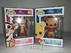 Funko Pop! Disney Winnie The Pooh #32 & Tigger #47 Vaulted Retired
