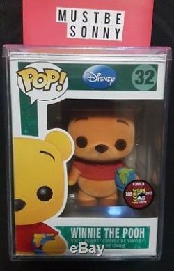 Funko Pop Flocked Winnie the Pooh 2012 SDCC 480 Piece Disney