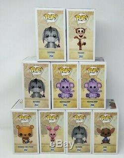 Funko Pop! Winnie The Pooh Lot of 9 Sdcc Tiger Eeyore Hot Topic Chase