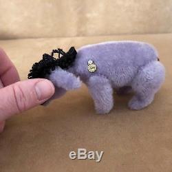 Hermann Piglet Eeyore Teddy Disney Winnie The Pooh lot 4 christopher robin bear