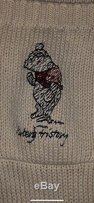 Iceberg History Cardigan Sweater Winnie The Pooh Disney Sz XL Italy 1990