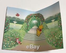 Japan Disney Store Pin 11404 Shibuya Just Pooh Floor 2nd Anniversary Set Rose