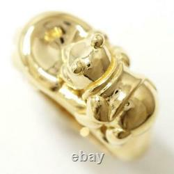 K. Uno Winnie the Pooh 18K Yellow gold Baby Ring Unknown size Free shipping Used