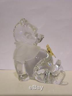 LENOX Disney CRYSTAL FLUTTERBY FRIEND sculpture NEW in BOX COA Winnie the Pooh