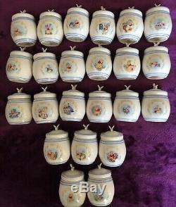 LENOX-Winnie The Pooh Spice Jar Set 24 Jars (2 jars have bee missing 1 wing)