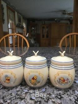 LENOX Winnie The Pooh Spice Jar Set. Pooh Pantry Spice Jar Set. 19 Jars. MINT