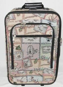 Large Disney Winnie The Pooh Carpet Tapestry Luggage Set Overnight Weekender Bag