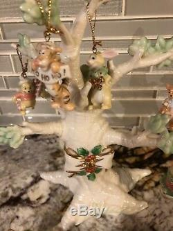 Lenox Christmas Winnie The Pooh Tree With 10 Ornaments Pristine 2004