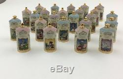 Lenox Disney Spice Set 24 Jars Wood Spice Rack Snow White Bambi Winnie The Pooh