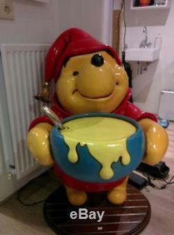 Life-size Walt Disney Winnie the Pooh Honey Pot Statue Figurine Figure Display