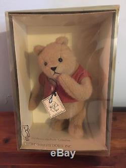 Limited Ed R. John Wright Winnie-the-Pooh Plush 8 Fully Jointed LE NWT in box