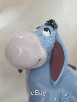 Lladro Eeyore Brand New In Box #9344 Disney Winnie The Pooh Bow Blue Save$ F/sh