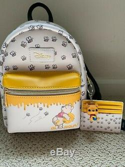 Loungefly Disney Winnie The Pooh Bees & Honey Mini Backpack With Card Holder