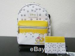 Loungefly Disney Winnie The Pooh Bees & Honey Mini Backpack With Card Holder Nwt