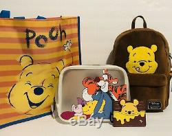 Loungefly Disney Winnie The Pooh Corduroy Backpack, Cardholder, & Cosmetic Bag