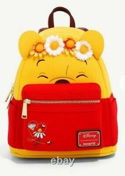 Loungefly Disney Winnie The Pooh Floral Crown Mini Backpack Bag NEW