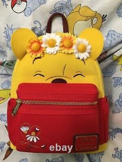 Loungefly Disney Winnie The Pooh Flower Crown Mini Backpack NEW IN HAND