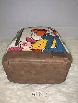 Loungefly Disney Winnie The Pooh, Tigger, Eeyore & Piglet Chenille Backpack NWT