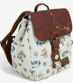Loungefly Disney Winnie the Pooh Mini Backpack Bag Character Sketches NEW