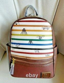 Loungefly Disney Winnie the Pooh Mini Backpack Bag Striped, Eeyore, Tigger, Roo