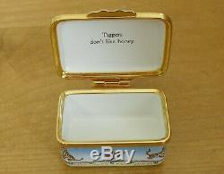 Ltd Ed Halcyon Days Winnie the Pooh Tiggers Don't Like Honey Enamel Box 2