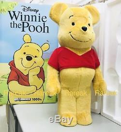 Medicom Be@rbrick 2017 Disney 1000% Winnie The Pooh Flocked ver. Bearbrick 1pc