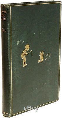 Milne WINNIE THE POOH 1926 ORIGINAL CLOTH FIRST EDITION SIGNED