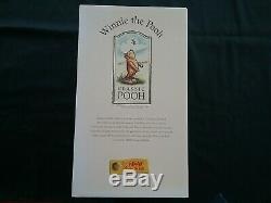 Mint New Steiff Winnie The Pooh 651489 9 Mohair Pooh With Red Jacket 1999