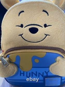 NEW Loungefly x Disney Winnie The Pooh Felt Honey Tummy Backpack IN HAND