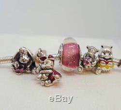 NEW Pandora Set of 5 Disney Charms Eeyore, Piglet, Tigger, Winnie the Pooh, Anna