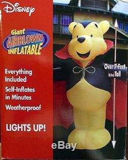 NIB 2003 Gemmy 7' Disney Winnie The Pooh Halloween Airblown Inflatable