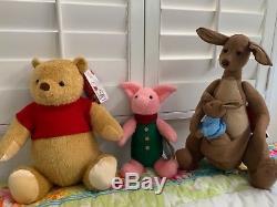 NWT Disney Christopher Robin Winnie the Pooh Plush 17 Pooh Bear & friends
