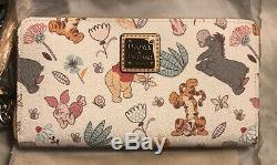 NWT Disney Dooney & Bourke Winnie The Pooh Wallet Wrislet Tigger Eeyore & PALS