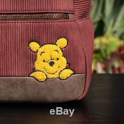 NWT Loungefly Disney Winnie the Pooh Corduroy Mini Backpack New with Tags