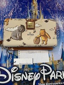 New Disney Parks 2020 Dooney & Bourke Classic Winnie The Pooh Wristlet Wallet