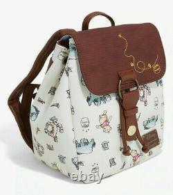 New Disney X Loungefly Winnie the Pooh Character Sketches Mini Backpack
