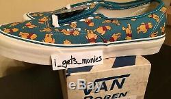 New Vans Disney OG Authentic LX Winnie The Pooh Size 10 Originals nib DS Cab