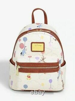Official Loungefly Disney Winnie the Pooh Balloons Backpack Bag New
