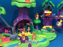 POLLY POCKET Winnie The Pooh 100 Acre Wood Play Set 100% Complete