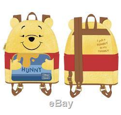 PREORDER New Loungefly Winnie The Pooh Hunny Tummy Mini Backpack Disney Pooh