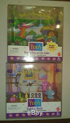 Pooh's Friendly Places Disney Mattel 14 sets MIB Winnie Eeyore Tigger Piglet