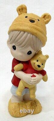 Precious Moments Disney 2015 Winnie the Pooh Boy with Hat 5 Porcelain Figurine
