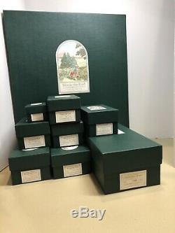 R. John Wright Complete Pocket Pooh Set & lithograph backdrop NIB! LE# 1065/3500